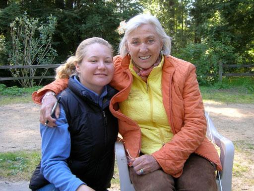 Linda Tellington-Jones with Kathleen Aspenns